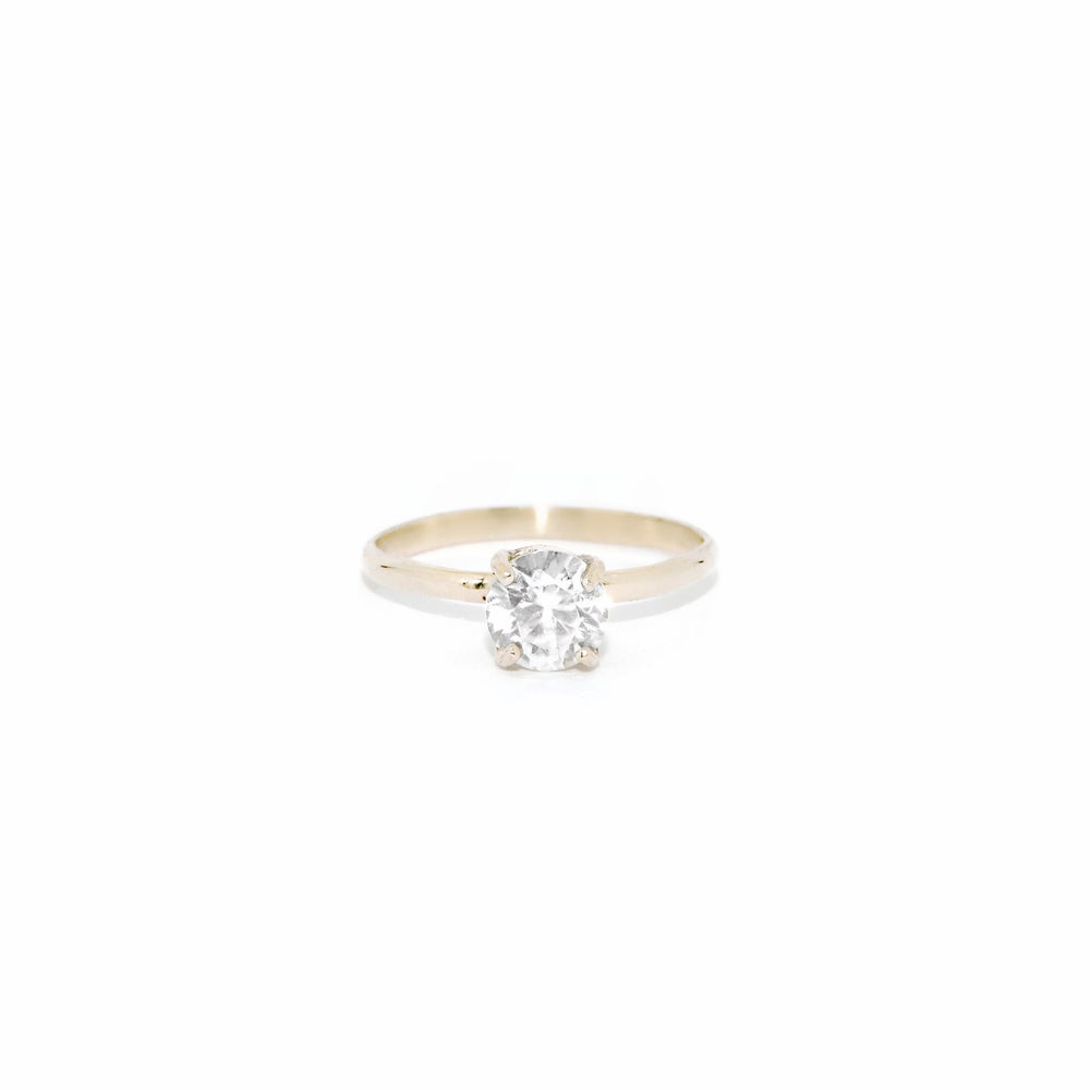 Image of solitaire zircon ring