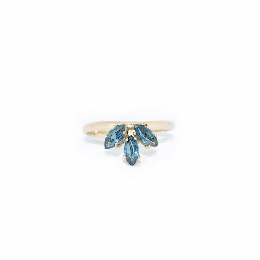 Image of marquise sapphire ring