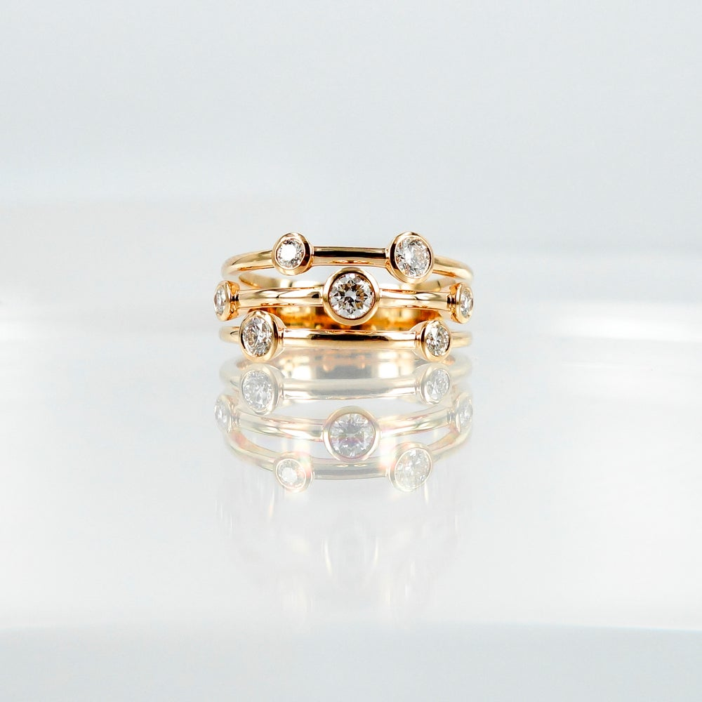 Image of PJ5467 Rose gold and diamond dress ring