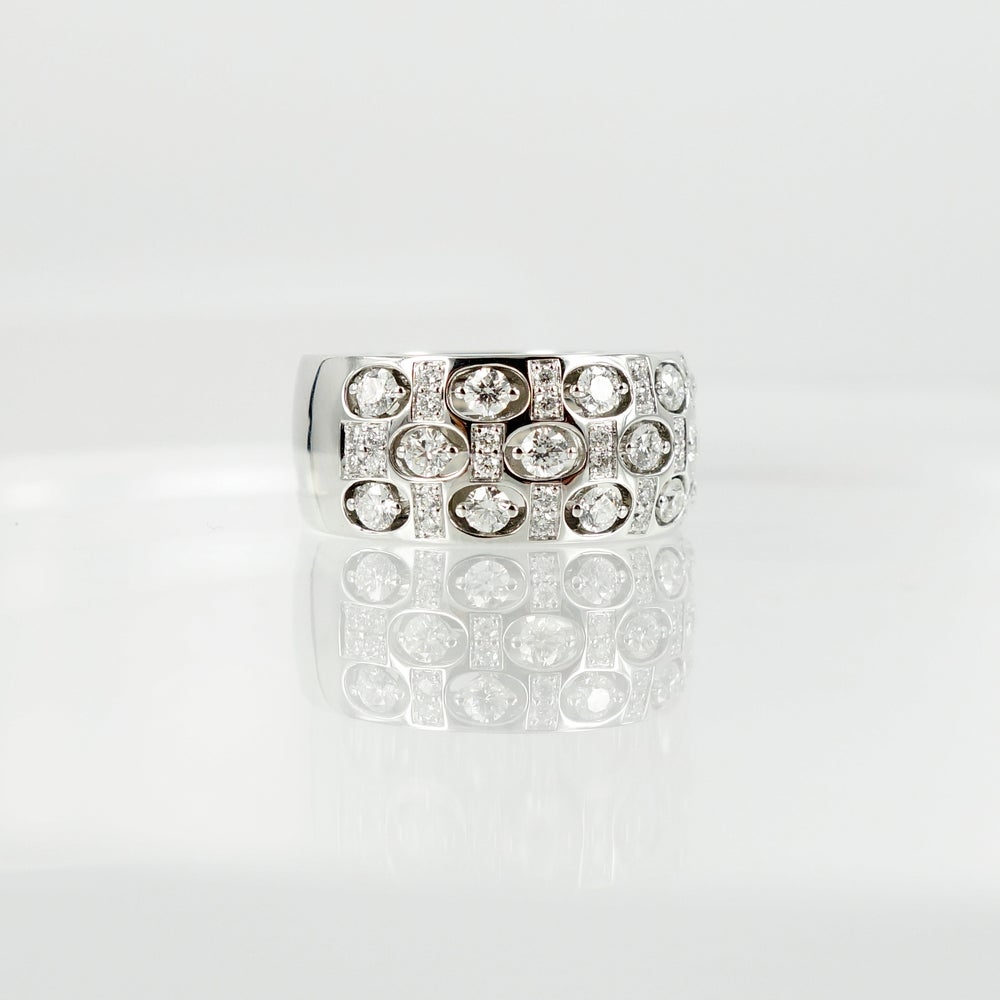 Image of PJ5464 Contemporary designed white gold and diamond cocktail ring
