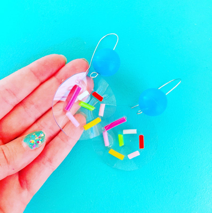 Image of Confetti bubble earrings