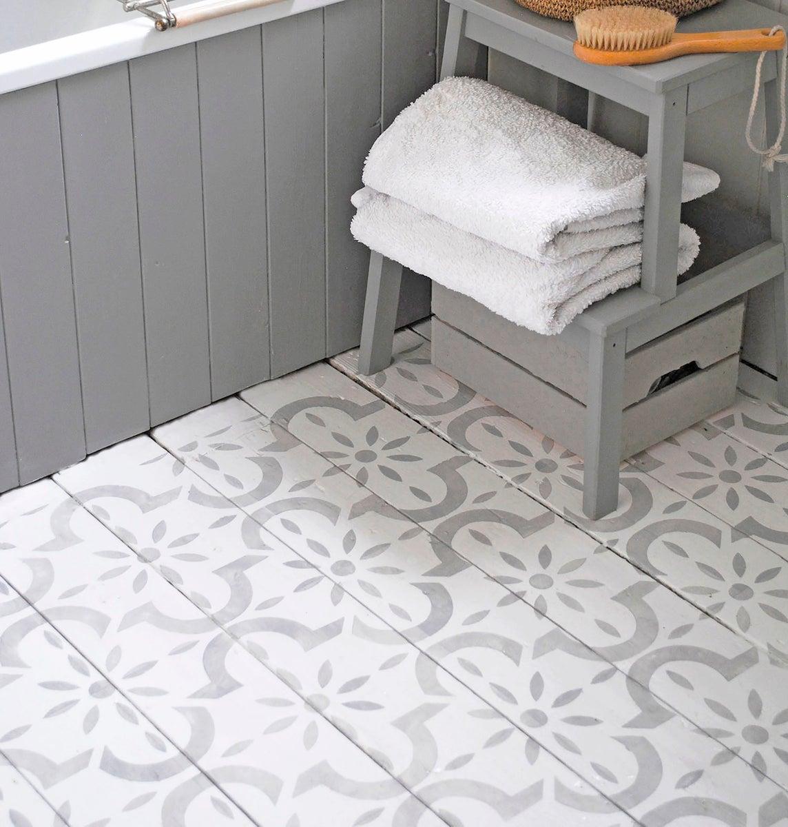 Large Medina Floor Stencil Nicolette Tabram