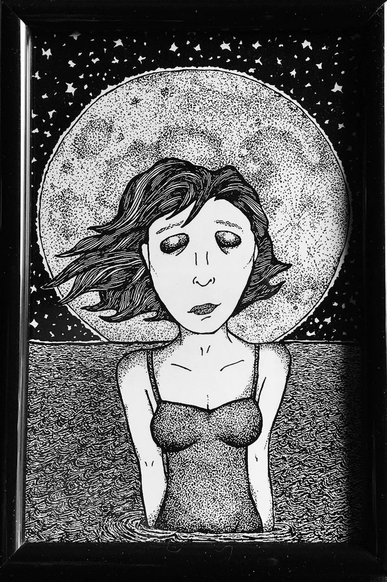 Image of Moon Girl (art print)