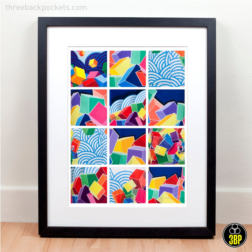 Image of Mapei cycling jersey details poster print