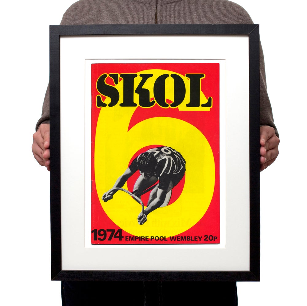 Image of Skol Six Days 1974 London track cycling poster