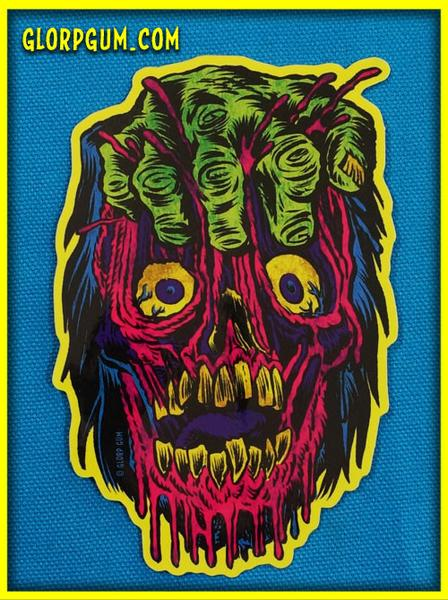 Image of Gory Ghoul Sticker: FIST FACE