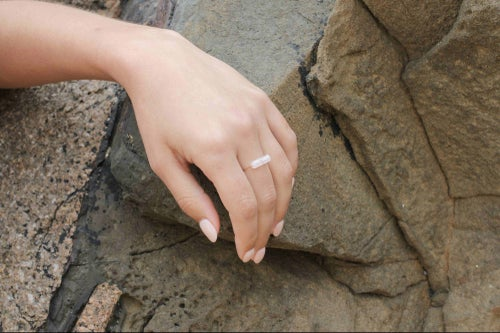 Image of Bague Mathilda quartz rose