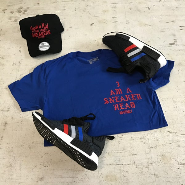 """Image of I AM A SNEAKEREAD """"ROYAL/RED"""" T-SHIRT"""