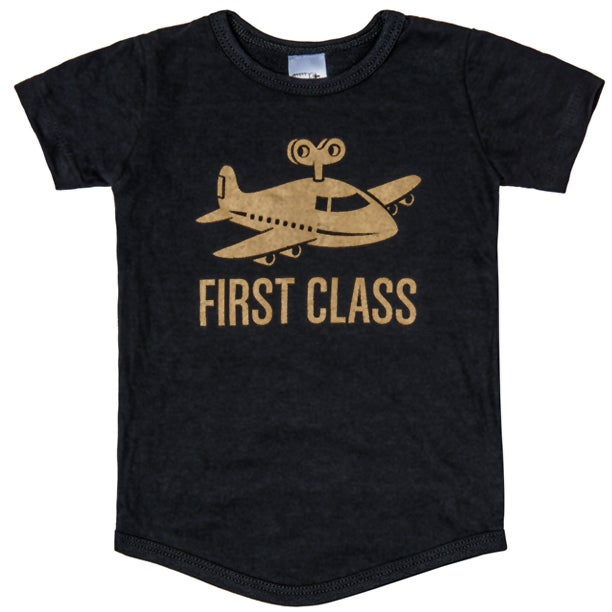 "Image of ""First Class"" Black T-Shirt"