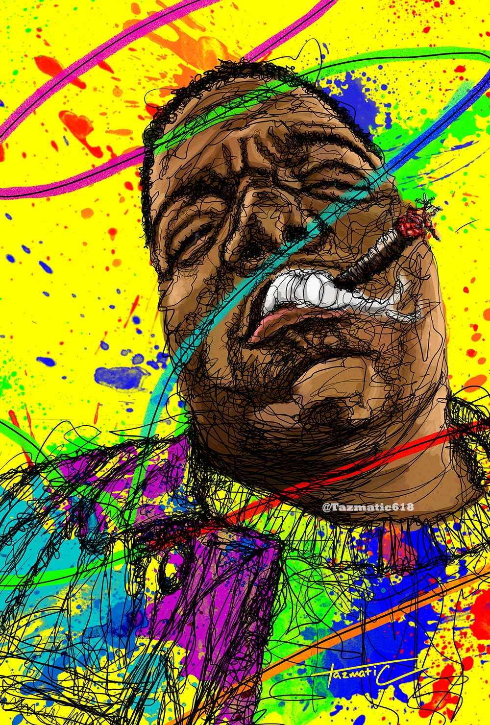 "Image of Biggie ""Gun Smoke"" Scribble"