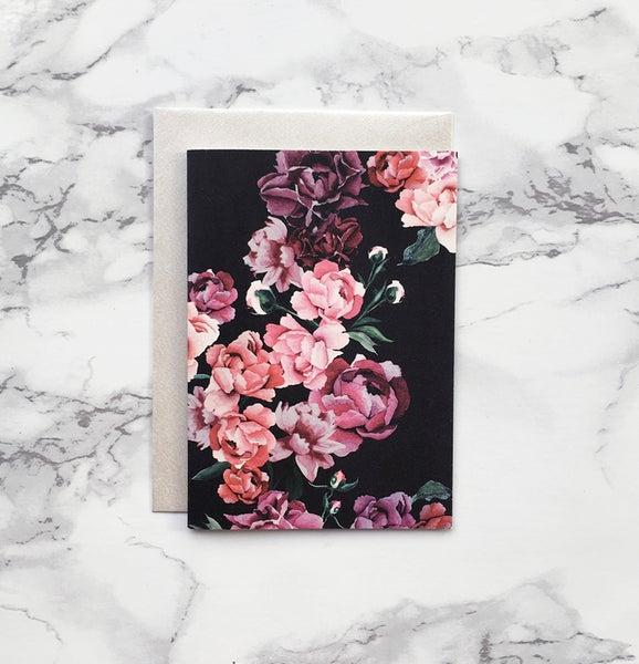 Image of Peonies - Mini greeting card