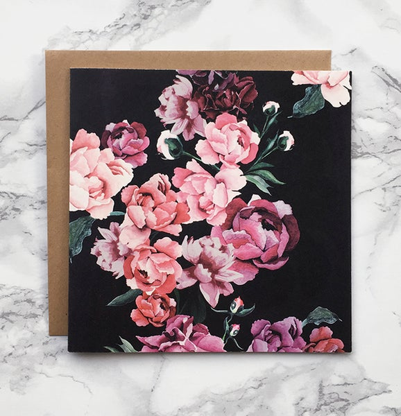 Image of Peonies - Large greeting card