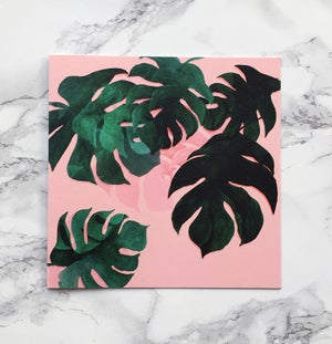 Image of Monstera - Large greeting card