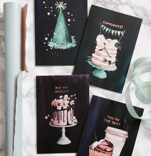 Image of Party Hat - Greeting card