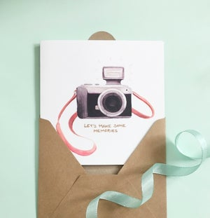 Image of Camera - Large greeting card