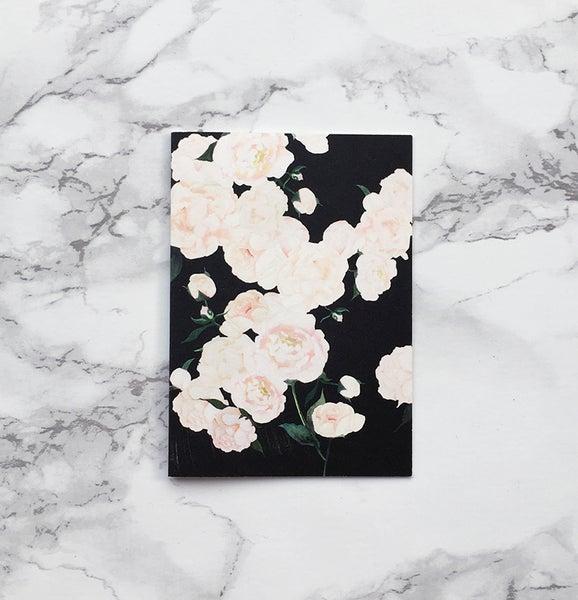 Image of White Peonies - Mini greeting card
