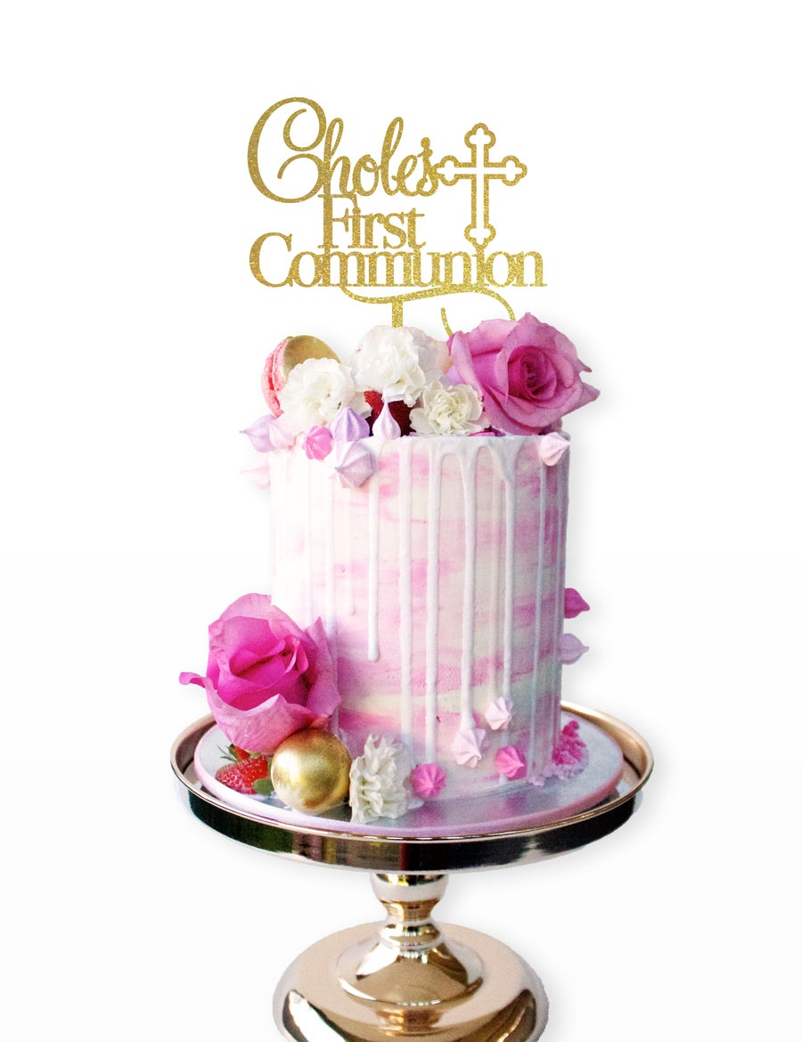 Image of Personalised First Communion Cake Topper