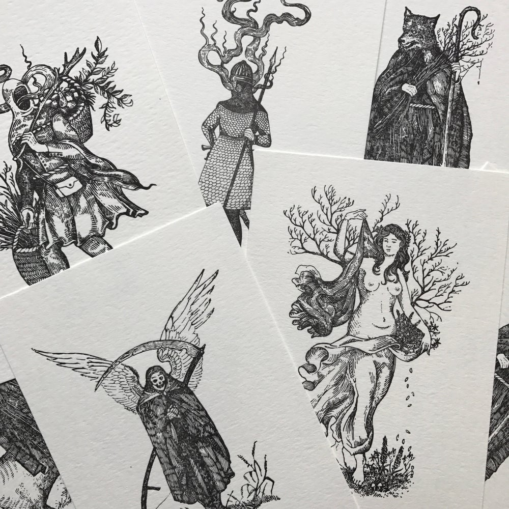 "Image of ""Memories Of Times Past"" Letterpress Prints Collection"