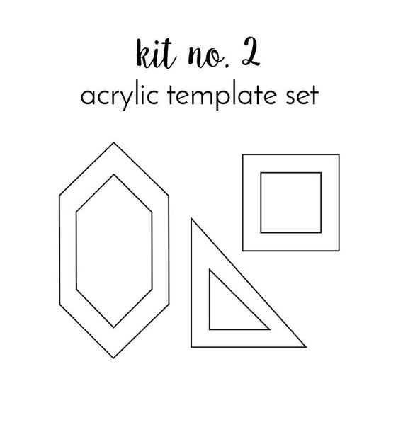 Image of kit no. 2 acrylic template set