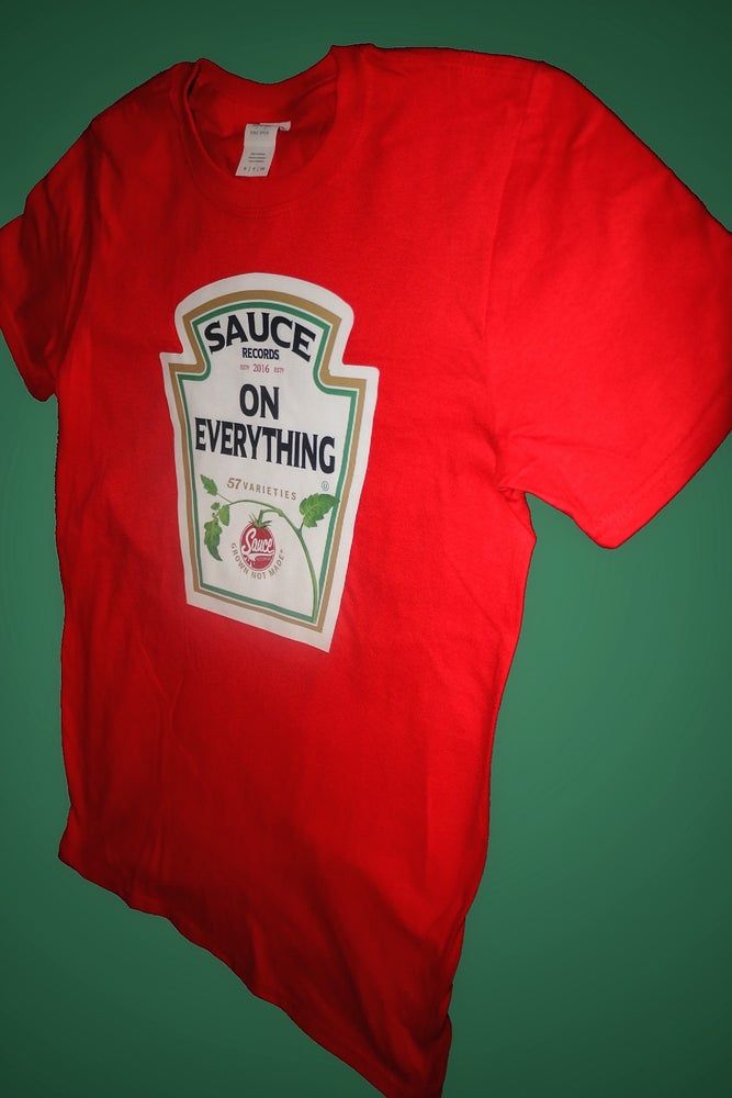 Image of RED Heinz Label SAUCE Tee