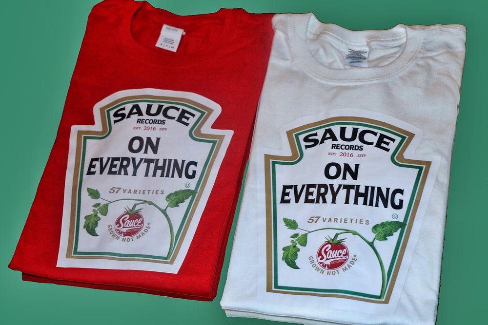 Image of WHITE Heinz Label SAUCE Tee
