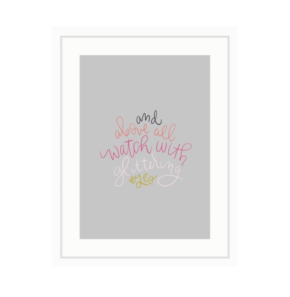 Image of Roald Dahl Print 2 // Color on Grey