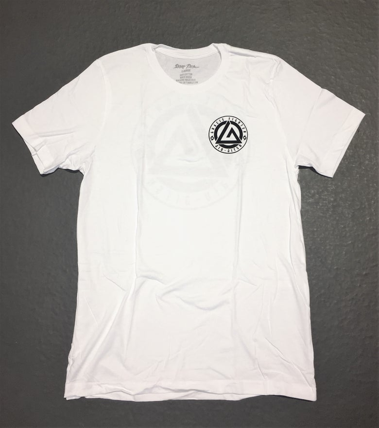 Image of Gracie Fighter Logo Tee (White)