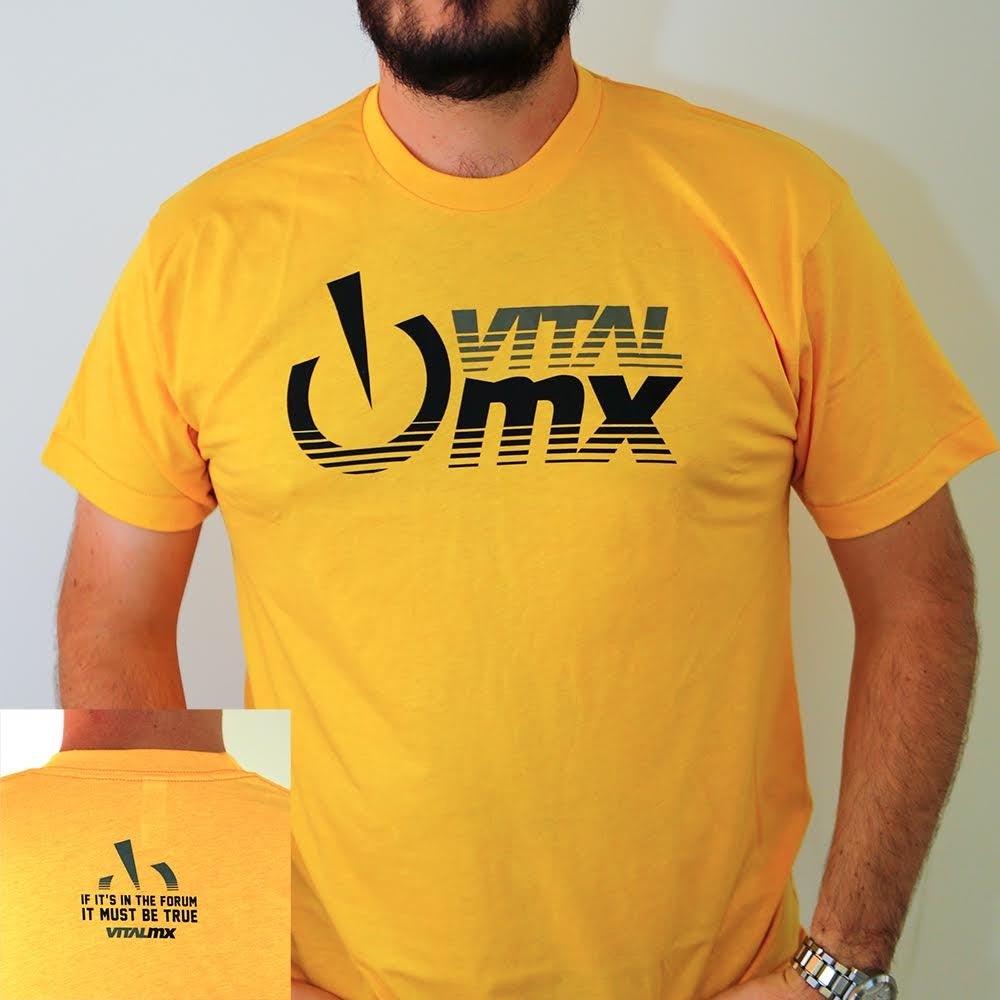 Image of Vital MX Fade Logo T-Shirt, Heather Gold
