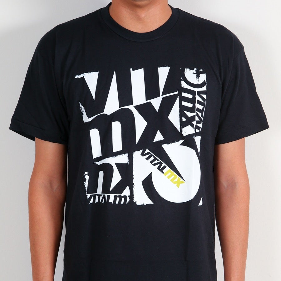 Image of Vital MX Collage T-Shirt, Black