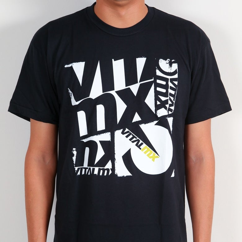 Image of Vital MX Collage T-Shirt, Black