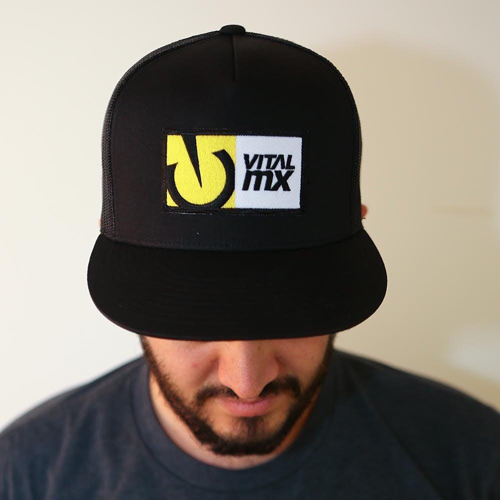 Image of Vital MX Logo Trucker Hat, Black