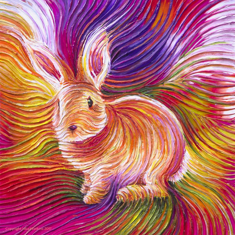 Image of Bunny Love Energy Painting - Gicleee Print