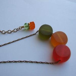 Image of JuJube Necklace - Red/Orange