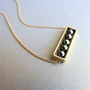 Image of Golden Olivine Abacus Necklace