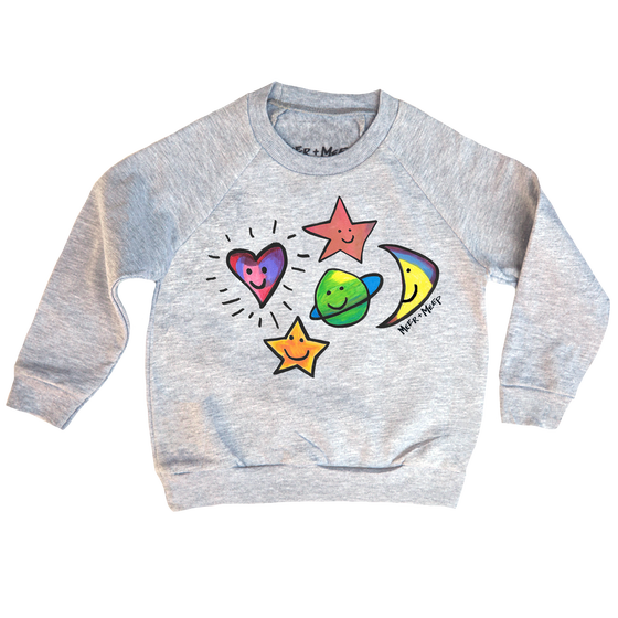 Image of HAPPY GALAXY SWEATSHIRT