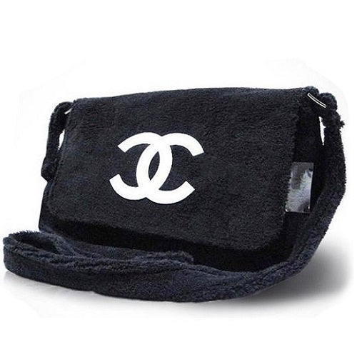 Image of Chanel Beaute Bag - Chanel Precision VIP Beauty Counter Gift Plush Shoulder Bag
