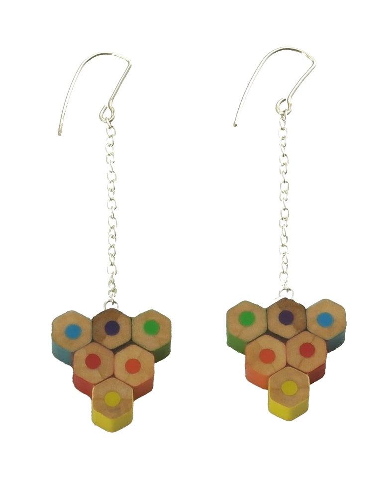 Image of rainbow earrings
