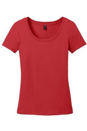 Image of Ladies Red Babydoll Tee