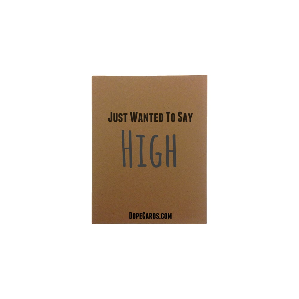 Image of Wanted to say high (6 cards)