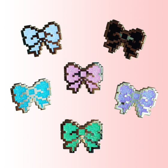 Image of 8bit Glitter Bows