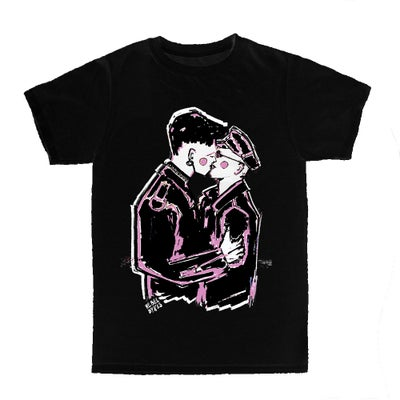 "Image of LIMITED EDITION OFFICIAL REBEL DYKES BLACK ""KISS"" T-SHIRT"