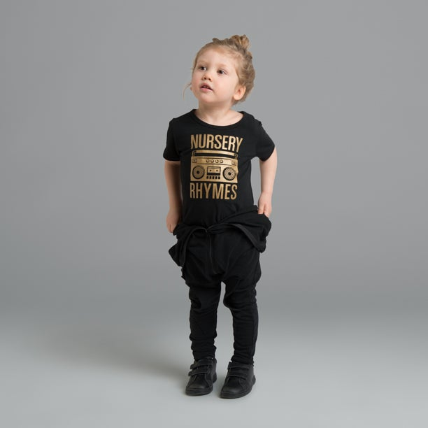 "Image of ""Nursery Rhymes"" Black T-Shirt"