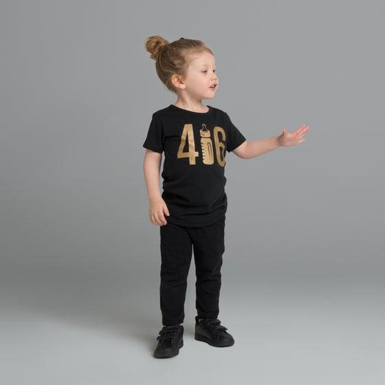 "Image of ""416"" Black T-Shirt"