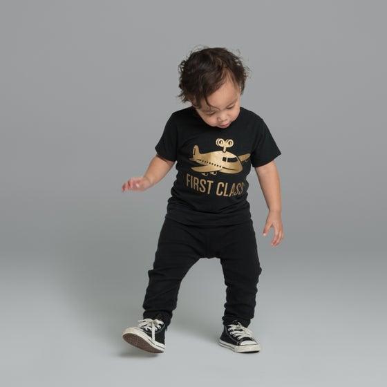 "Image of ""First Class"" Black T-Shirt"