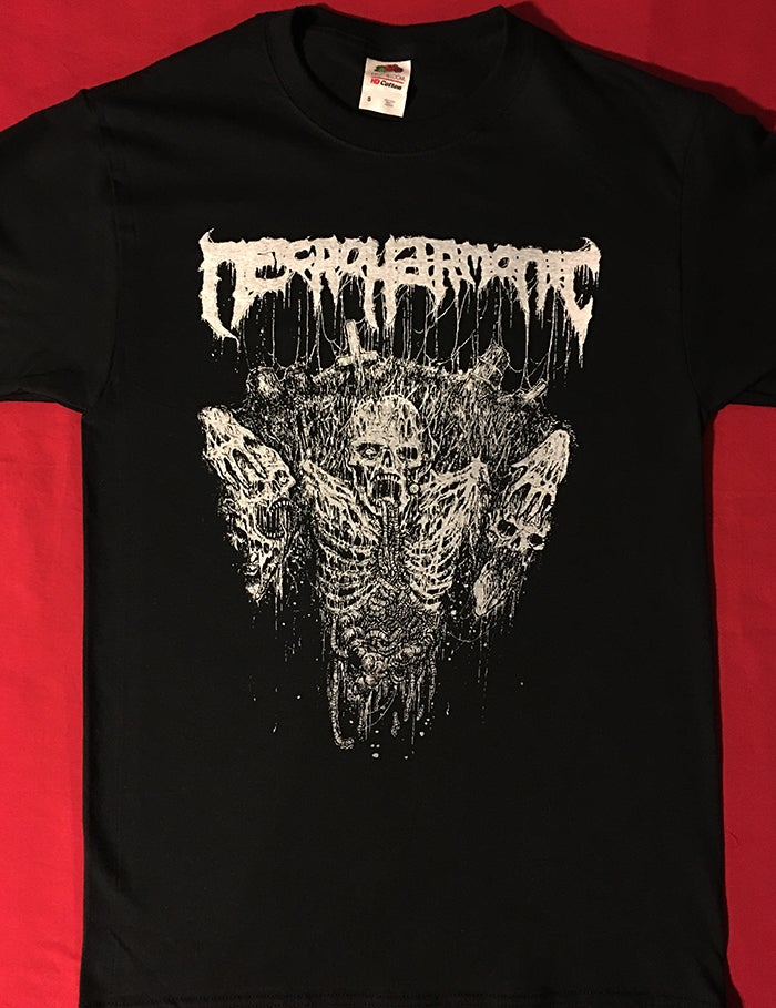 Image of Necroharmonic - Grave Ghoul - Black / White T shirt
