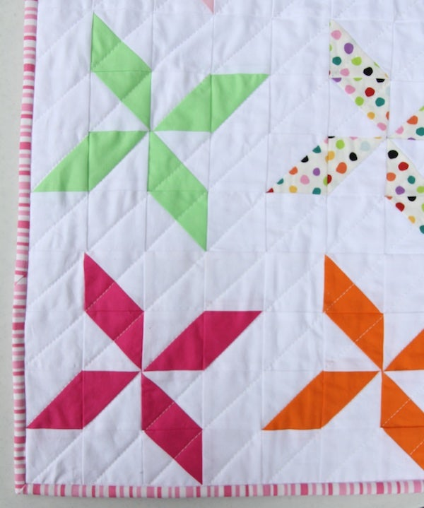 Image of Pinwheel Baby/Child Quilt