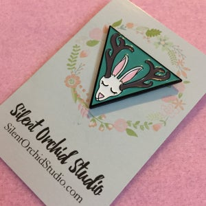 Image of Jackalope enamel pin