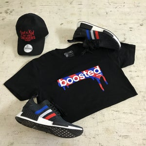 """Image of BOOSTED """"BLACK/RED/ROYAL"""" HOODY OR TSHIRT"""