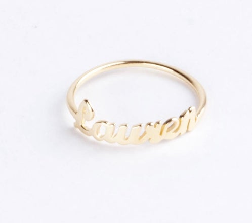 Image of Customized Name Ring
