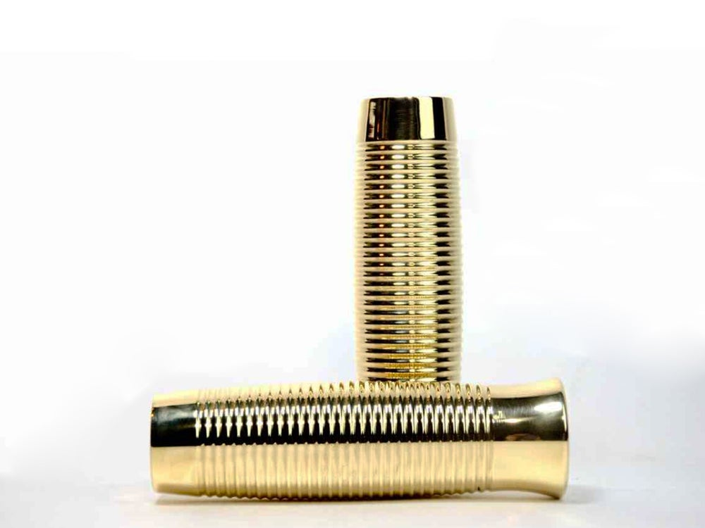 Image of Classic retro handle grips - Brass